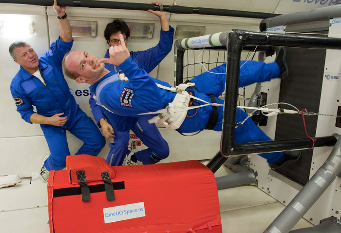 Astronaut Running on Treadmill
