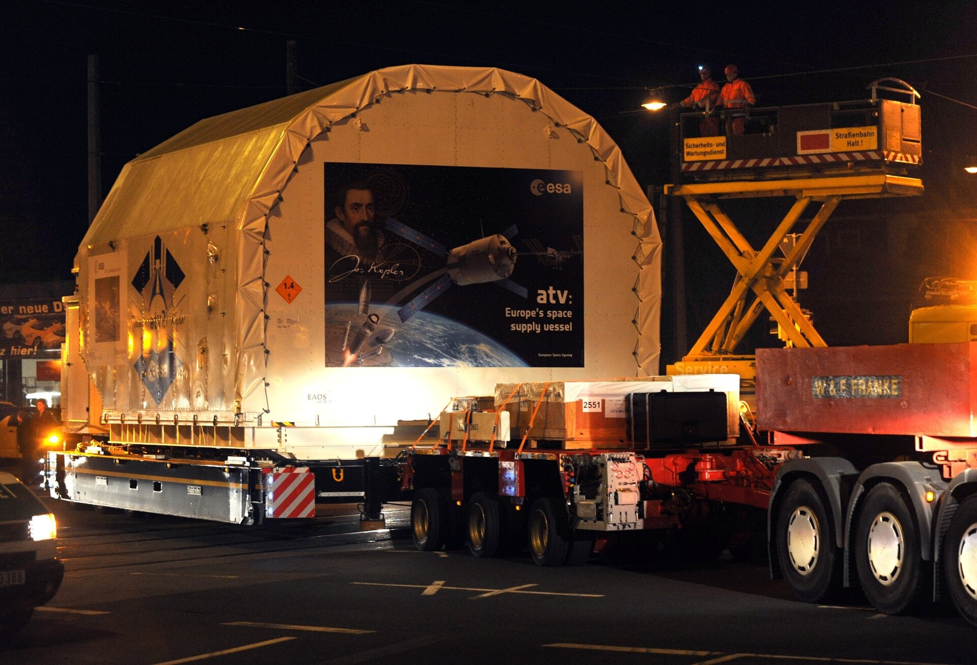 ATV-2 being shipped in Bremen