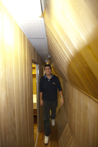Diego Urbina in the Mars500 facility