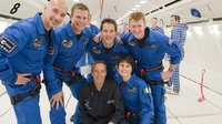 ESA astronauts during Zero G parabolic flight
