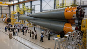 The first Soyuz to be operated from French Guiana undergoes its