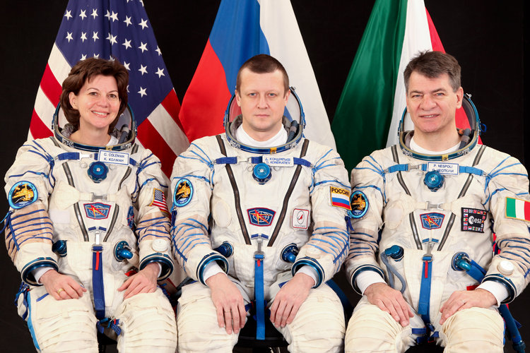 ISS Expedition 26/27: Catherine Coleman, Dmitri Kondratiev and Paolo Nespoli