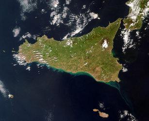 Cartina Sicilia Satellite.Esa Le Regioni Italiane Viste Dallo Spazio
