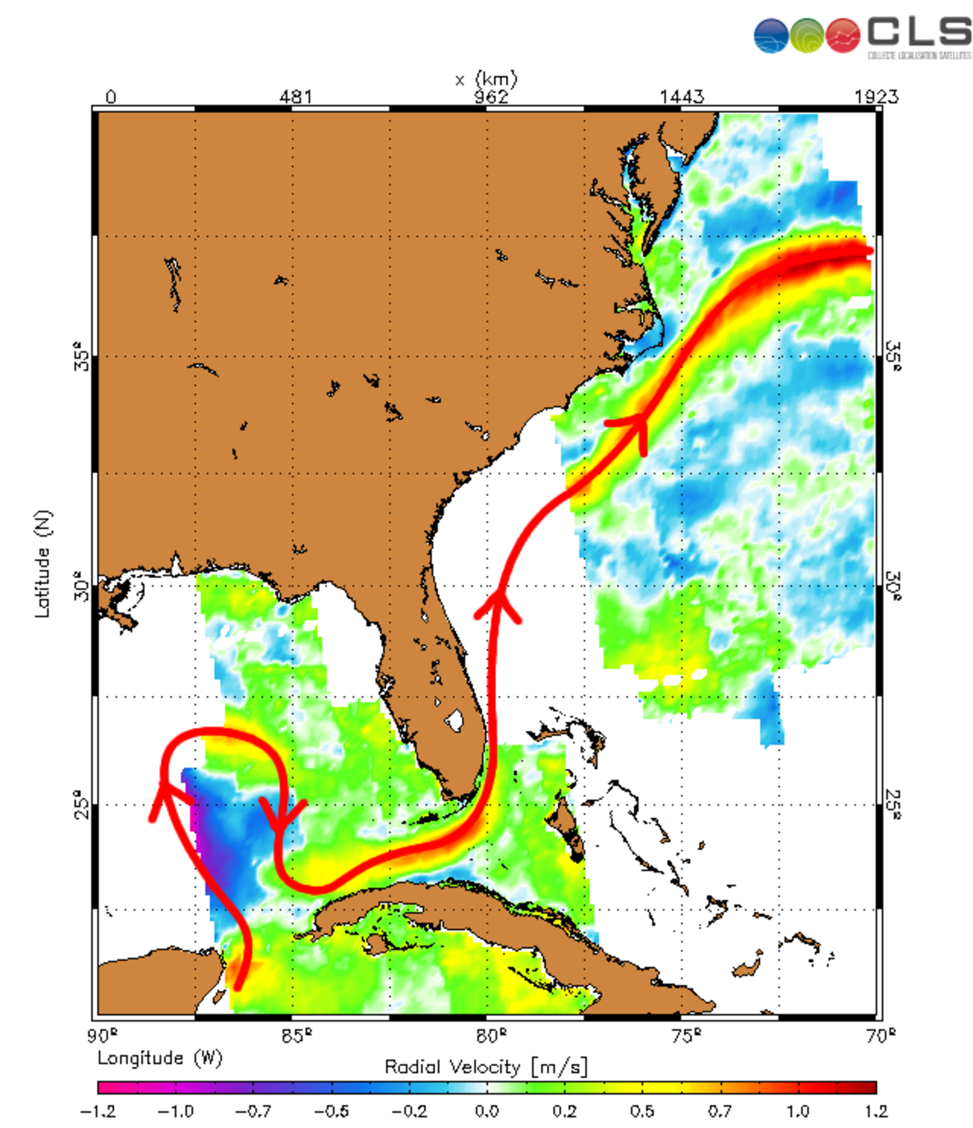 Path of Loop Current and Gulf Stream