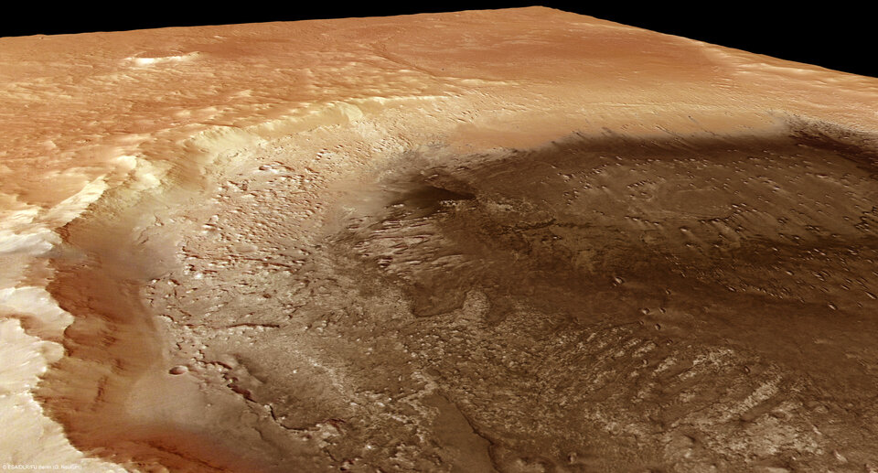 Perspective view of Meridiani Planum