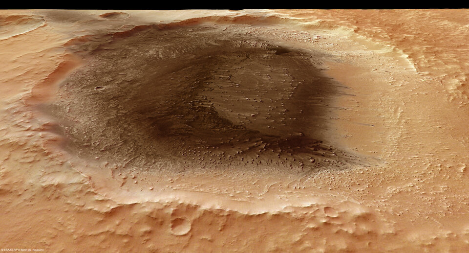 Meridiani Planum's central crater