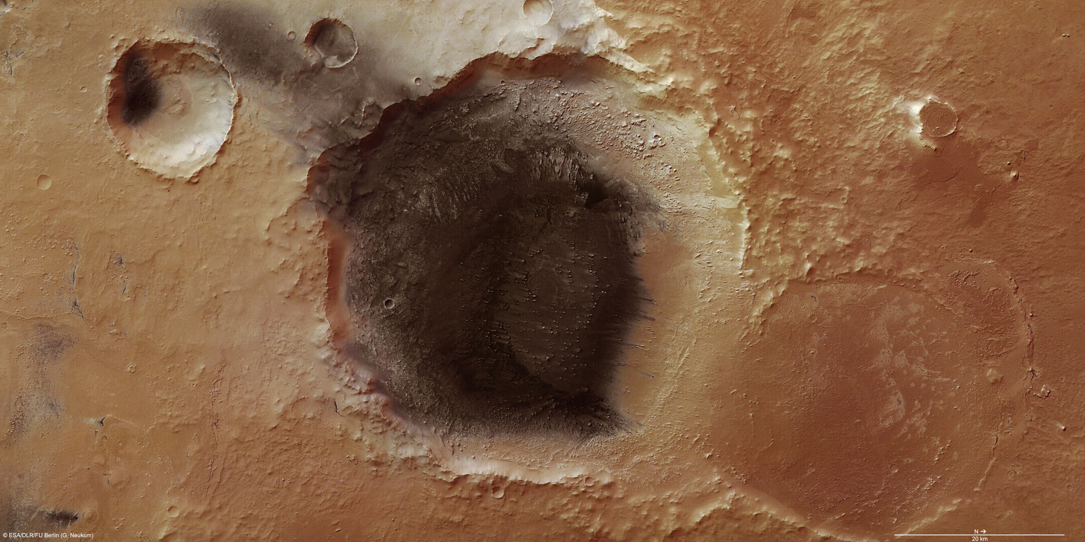 Volcanic ash deposits in Meridiani Planum