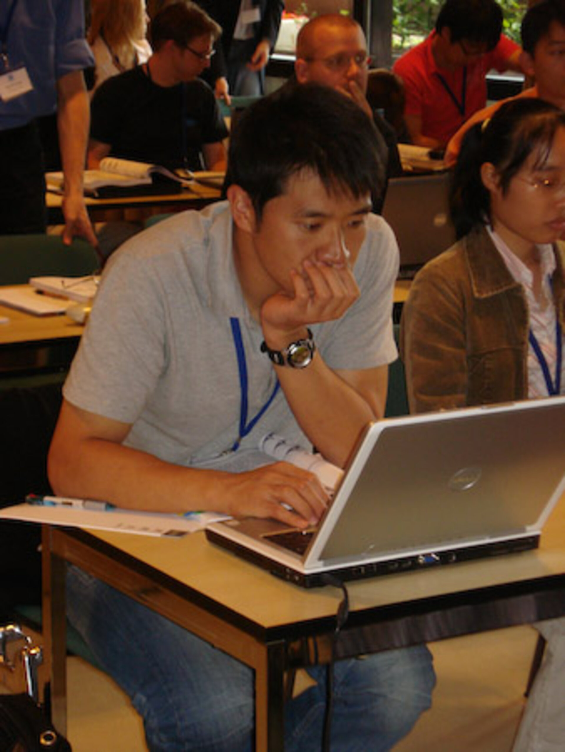 A student at the 2009 GNSS Summer School