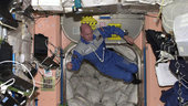 André aboard ISS in 2004