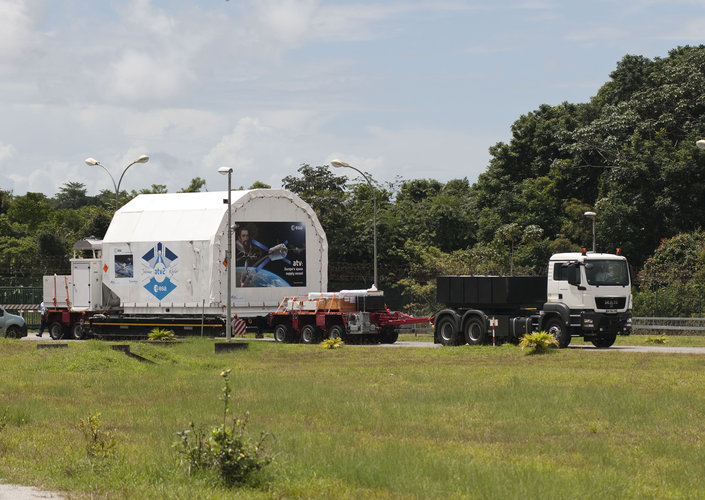 ATV-2 arrives at Europe's Spaceport