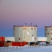 Concordia station in dusk