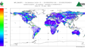 First map of global soil moisture retrievals