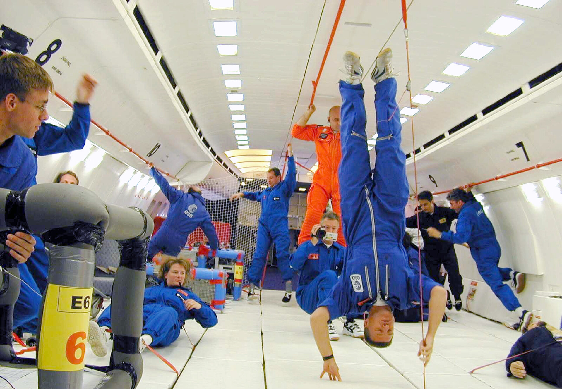 Floating upside down in Zero-G Airbus