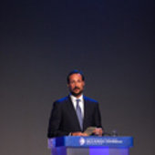HRH Crown Prince Haakon of Norway gave an opening speech