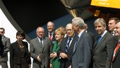 "ILA 2010 : Visit of Angela Merkel in the Joint Space Pavillon ""S"