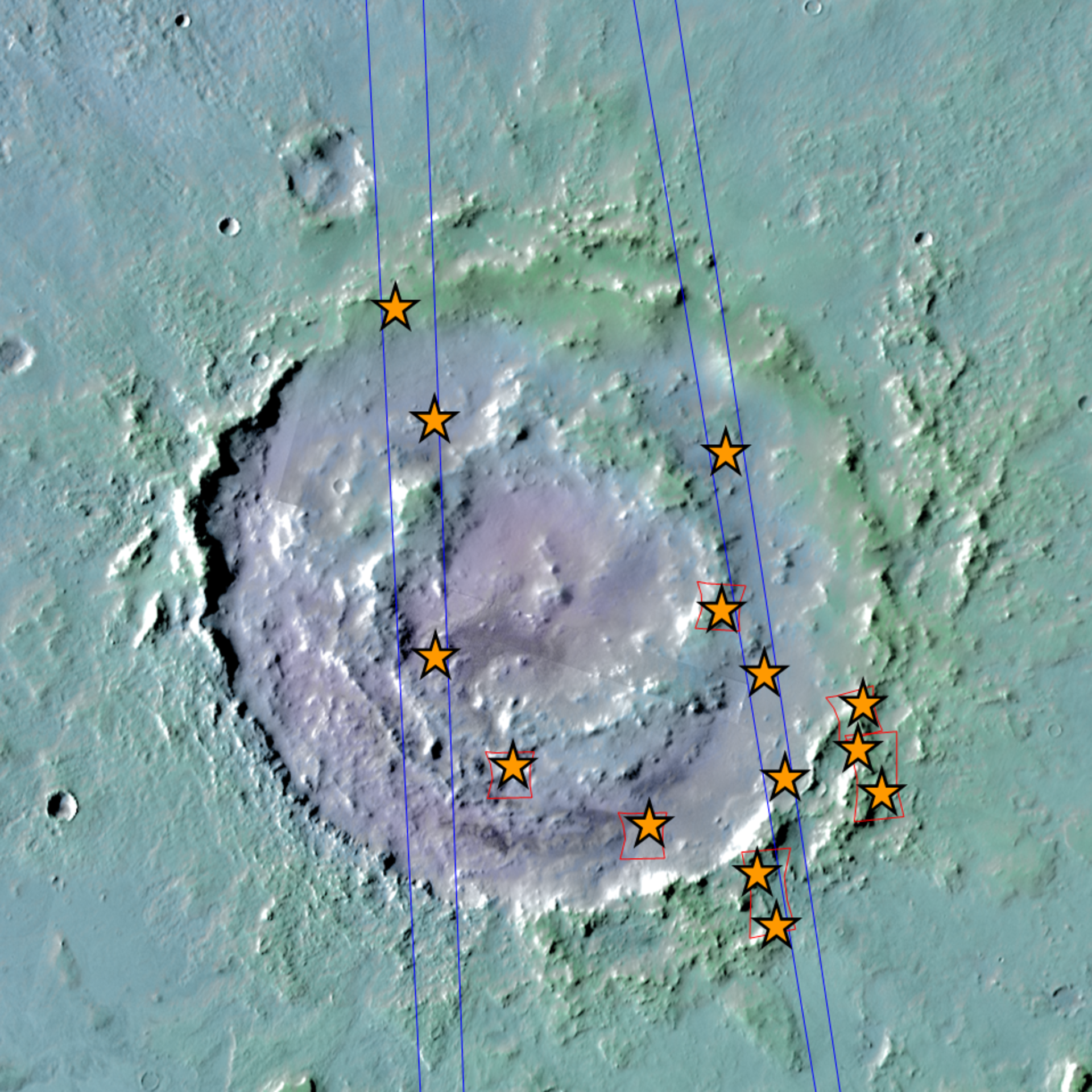 Lyot crater and the locations of the hydrated minerals