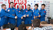 Mars500 crew at the press conference