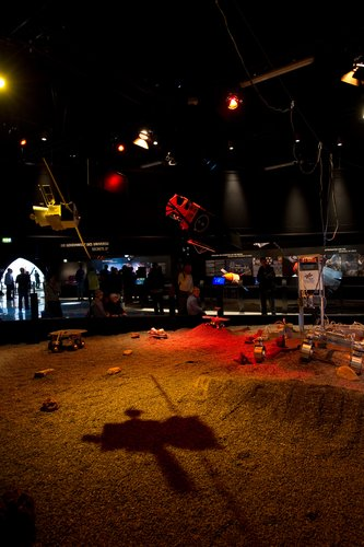 Mars terrain showing technology and future missions