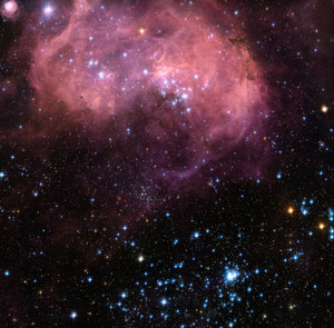 N11 is a vigorously active star formation region