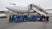 Participants of the ESA 52rd parabolic flight campaign