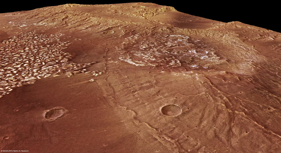 Perspective view of the Magellan Crater