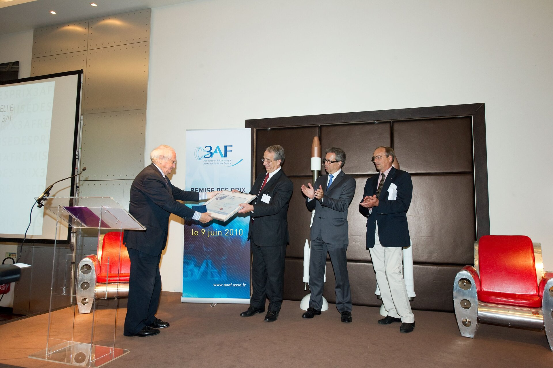 The Herschel and Planck AAAF Grand Prix 2010 award ceremony