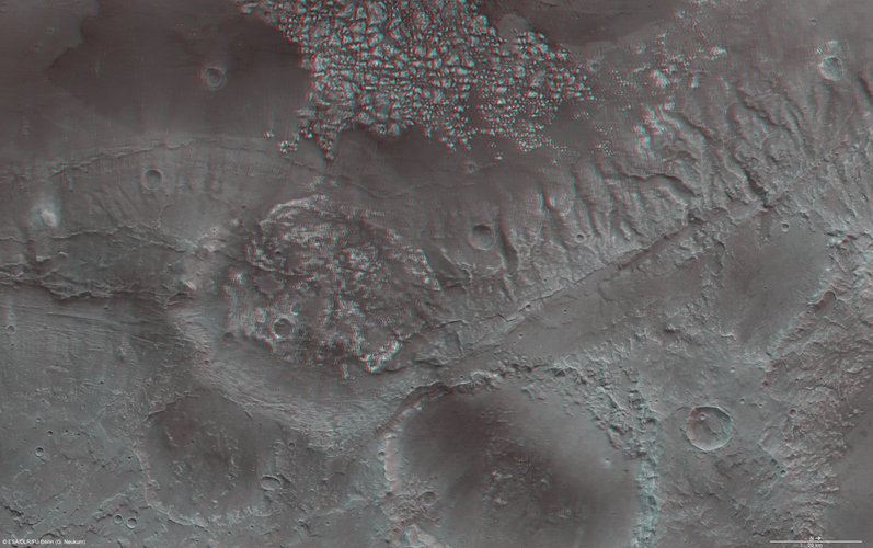 The Magellan Crater of Mars in 3D