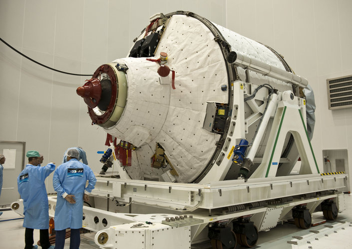 Unpacking the ATV-2 in Kourou
