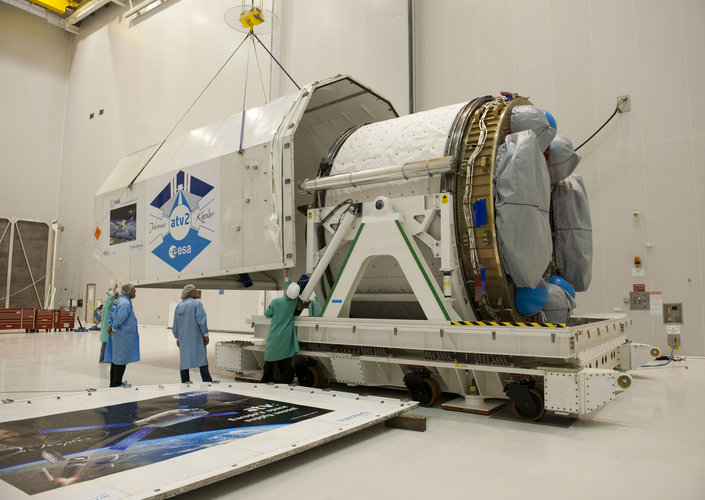 Unpacking the ATV-2 service module