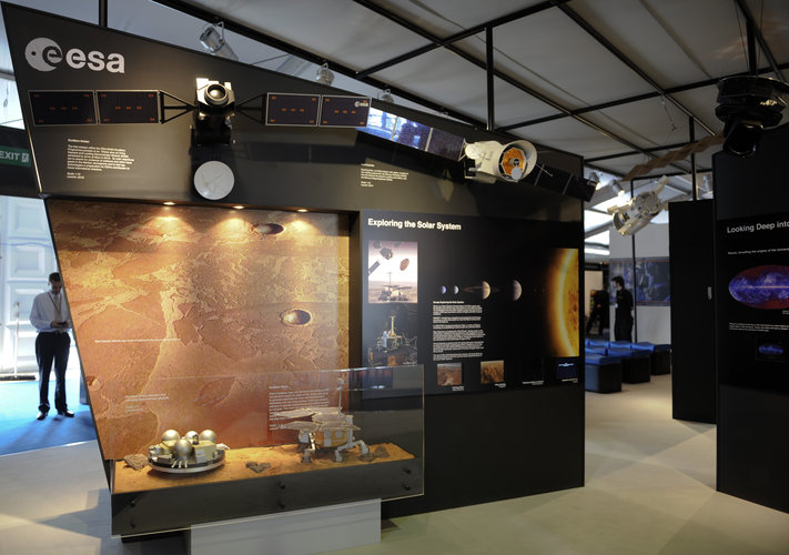 Exploring the Solar System area, ESA stand