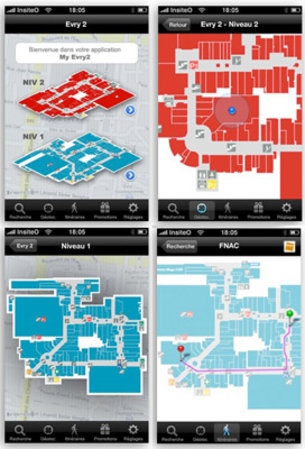 Insiteo system shows the way on Porte de Versailles floor plan