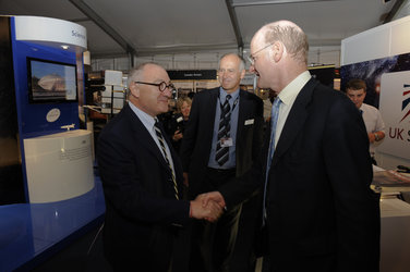 Jean-Jacques Dordain greets David Willetts
