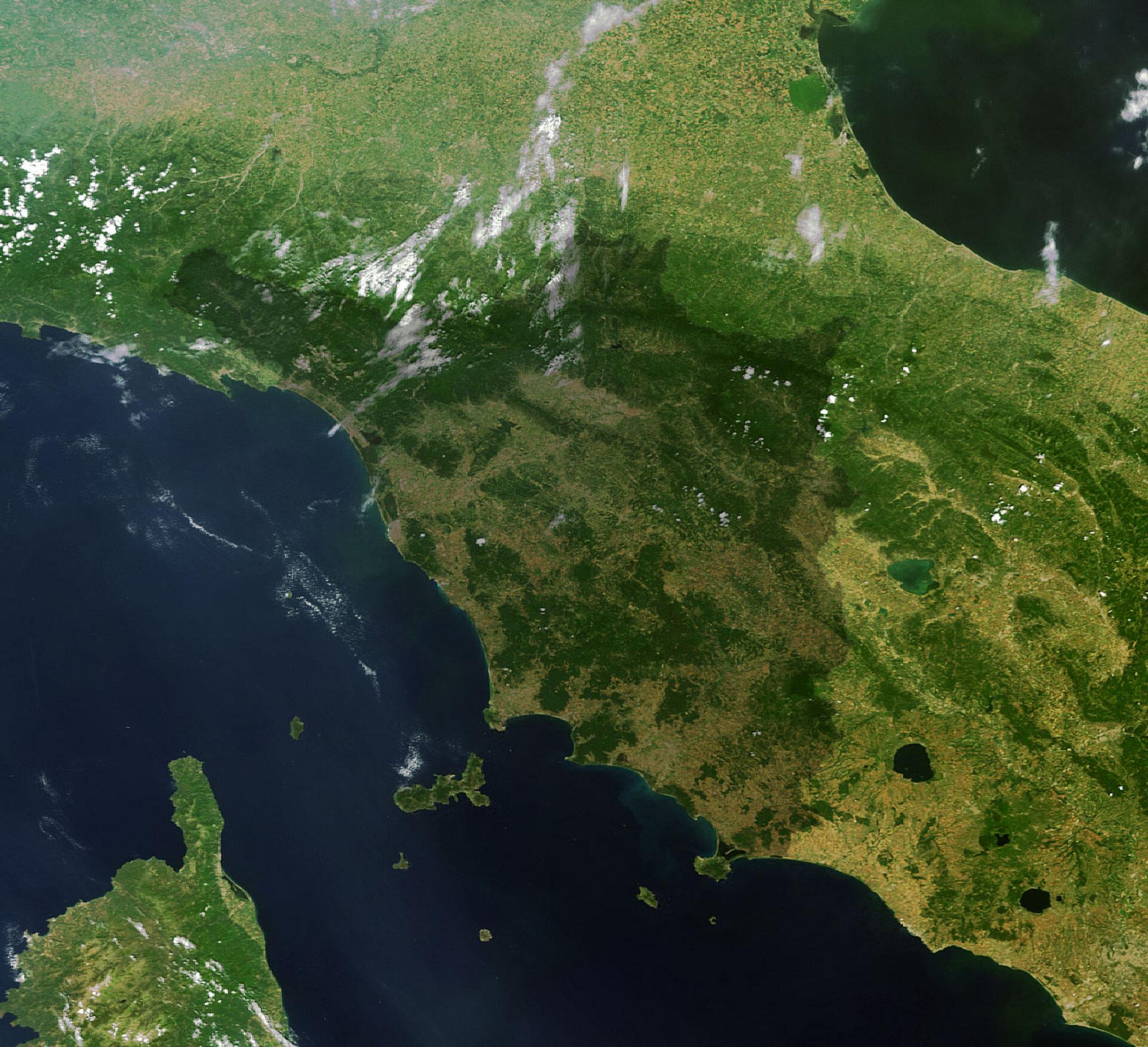 Costa Tirrenica Toscana Cartina.Esa Uno Sguardo Dall Alto Sulla Toscana