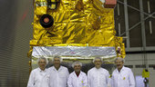MetOp-B team with Payload Module