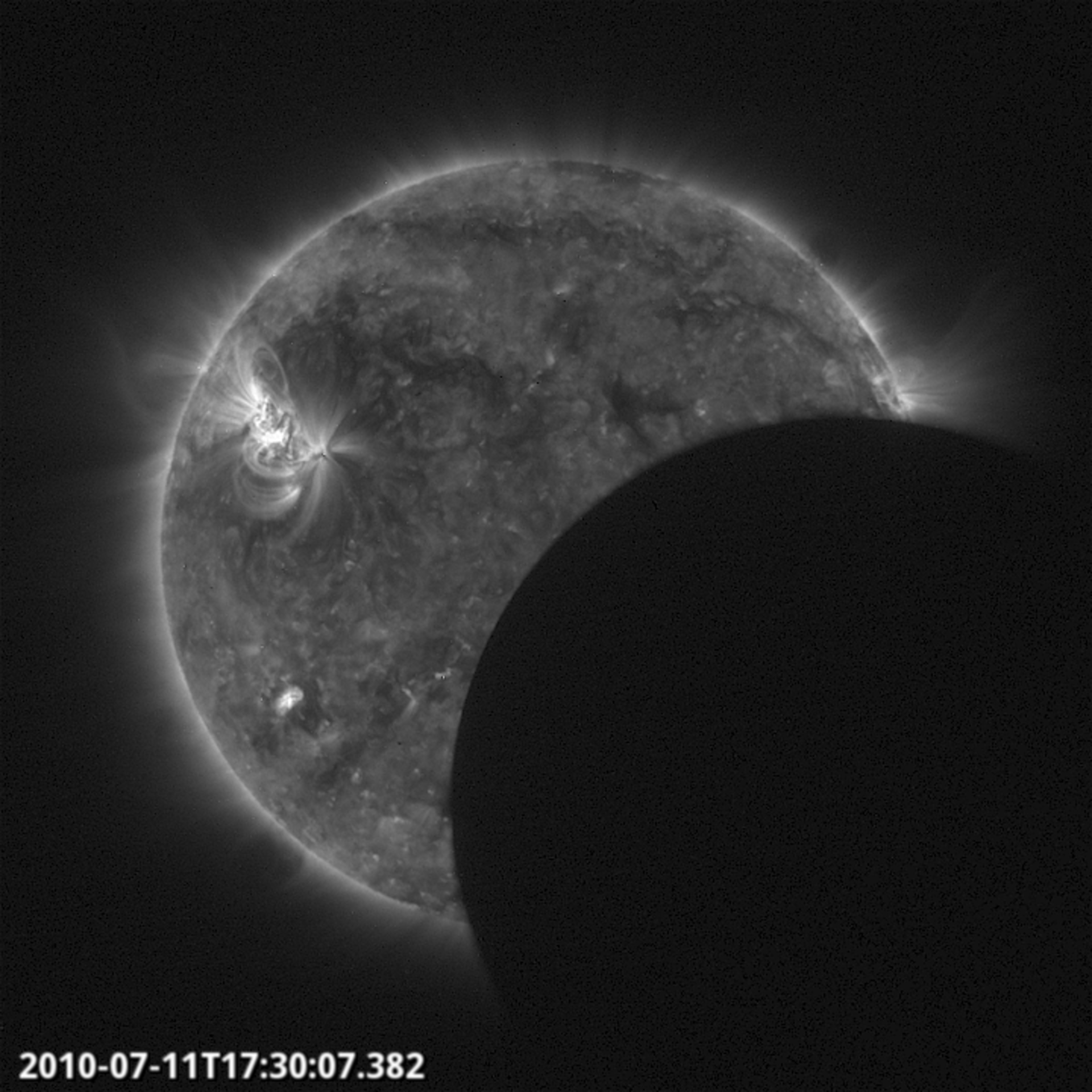 Proba-2 partial eclipse