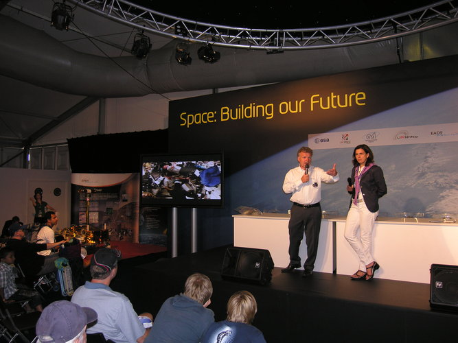 Reinhold Ewald talks about his career in space