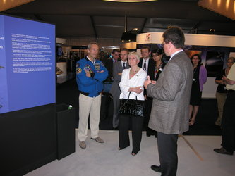 UK Minister of State for Security visits the ESA exhibition
