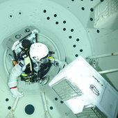 Alexander Gerst during training  in the Neutral Buoyancy Facilit