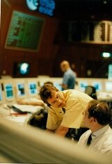 Cluster team in ESOC's Main Control Room after launch