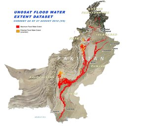 Extent of flood 27 August