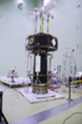 LISA Pathfinder spacecraft after the shock tests at ESTEC