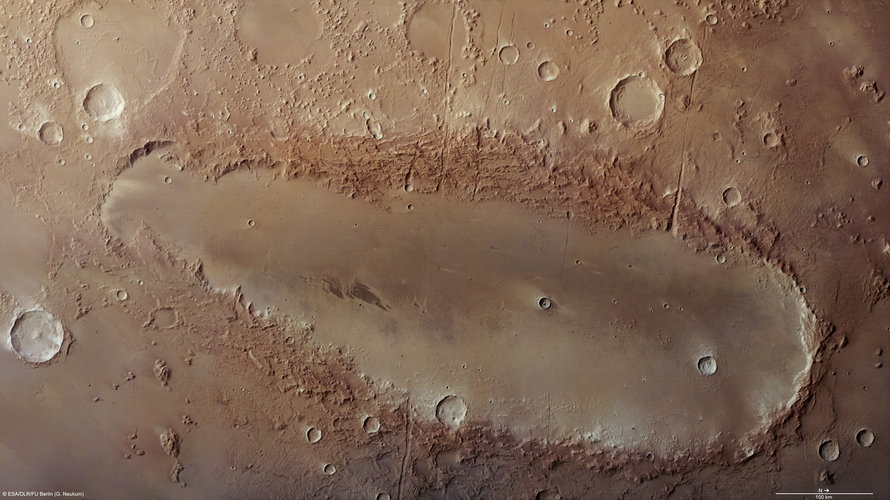Orcus Patera on Mars
