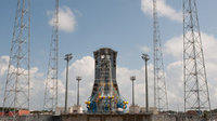 Construction of the new Soyuz launch facility