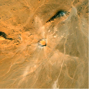 Khamil crater seen from space