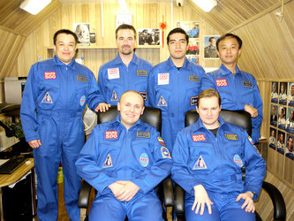 Mars500 crew in portrait