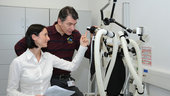 Paolo Nespoli during Training on Portable Pulmonary Function Sys