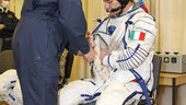 Paolo Nespoli participates in preflight fit checks and other pre