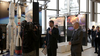 Press interview on the ESA stand, IAC 2010