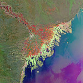 Russia's Volga Delta and the Caspian Sea
