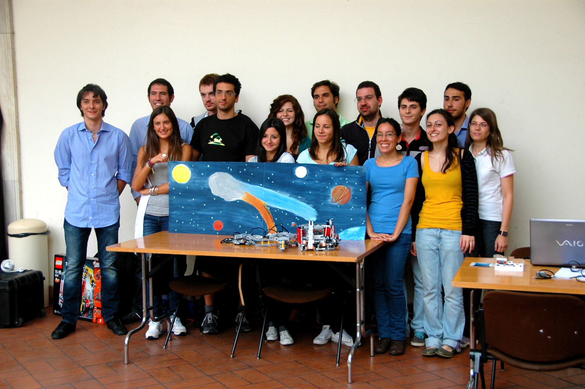 The students who tested the Rosetta model